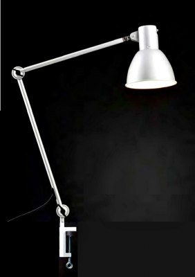 Work lamp 110 cm white shielded CH plug with table clamp base