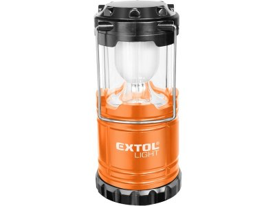 Lantern with 6 LED 50ml as simple bedside lamp incl. batteries