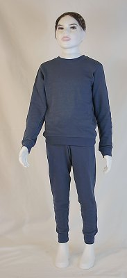 Children's Leisure Suit Organic Cotton, Silver Sweat Shirt Knitted Anthracite