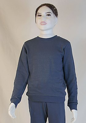 Kids Sweat Shirt Organic Cotton, Silver Sweat Shirt Knitted Anthracite