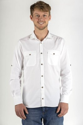 Herrenhemd Casual Swiss Shield WEAR weiss