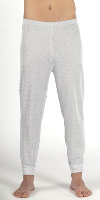 Men's Legging white organic cotton with silver knit