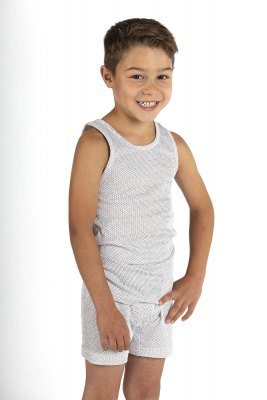 Boys Boxer Shorts white Organic Cotton Silver Knit