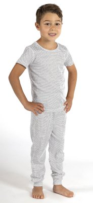 Boys' Leggings white organic cotton silver knitted