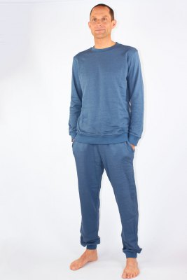 Mens Leisure Suit Organic Cotton Silver Sweat Shirt Knitted Anthracite
