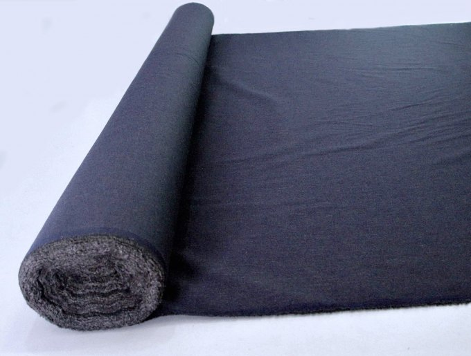 Fabric by meter stainless steel yarn dark blue Price per 1m - mind. 1m roll width: 150cm 37dB at 3.5GHz