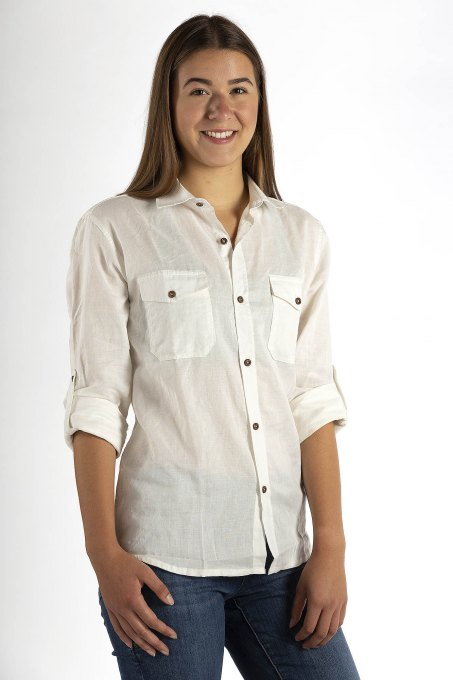 Ladies' shirt Casual Swiss Shield ULTIMA Colour natural