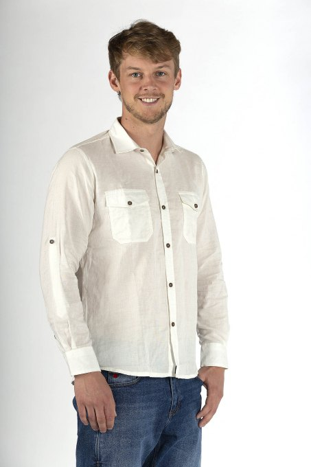 Men's shirt Casual Swiss Shield ULTIMA Colour natural